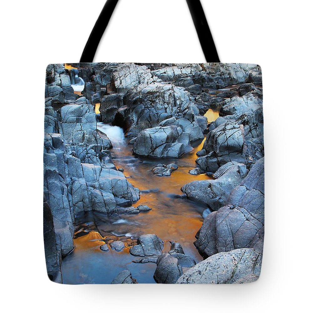 Black River Tote Bag featuring the photograph Evening Light On The Black River At Johnsons Shut Ins State Park IIi by Greg Matchick