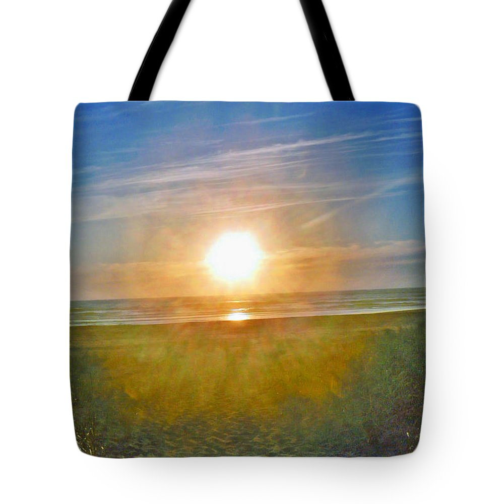 Yellow Tote Bag featuring the photograph Evening Orb by Pamela Patch