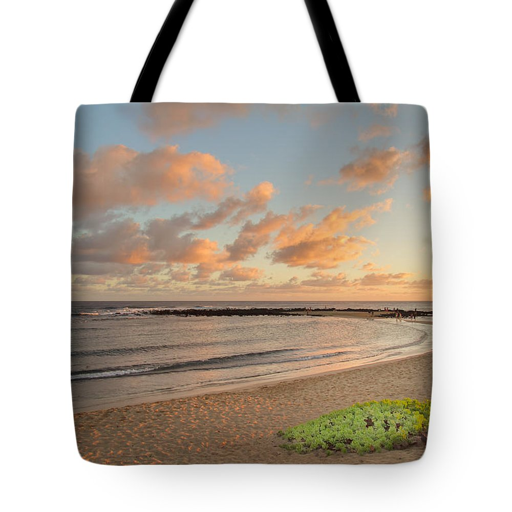 Beach Tote Bag featuring the photograph Evening Rays by Roger Mullenhour