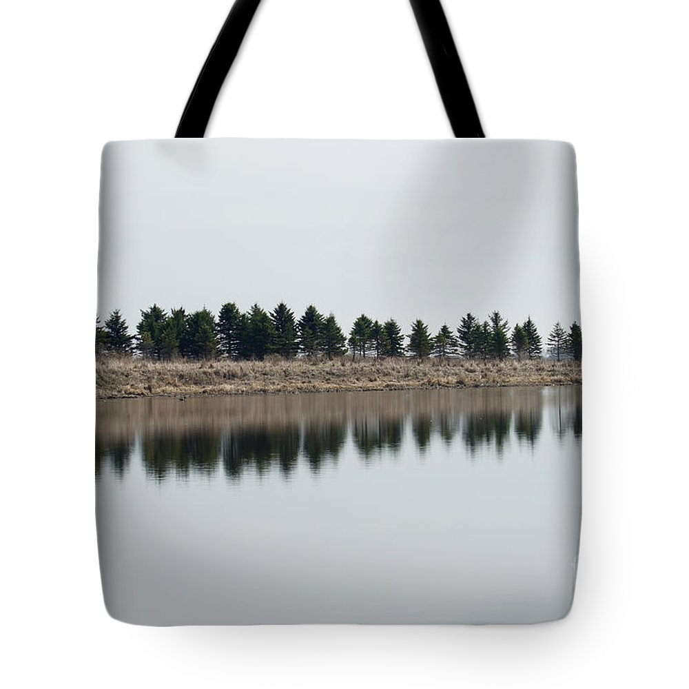 Trees Tote Bag featuring the photograph Evergreen Trees by Lori Tordsen