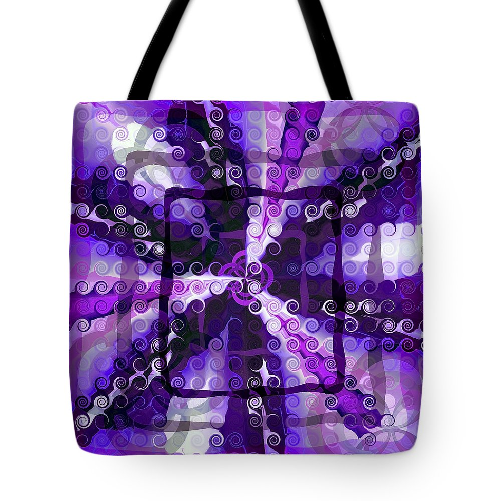 Evolve Tote Bag featuring the digital art Evolve 3 by Angelina Vick