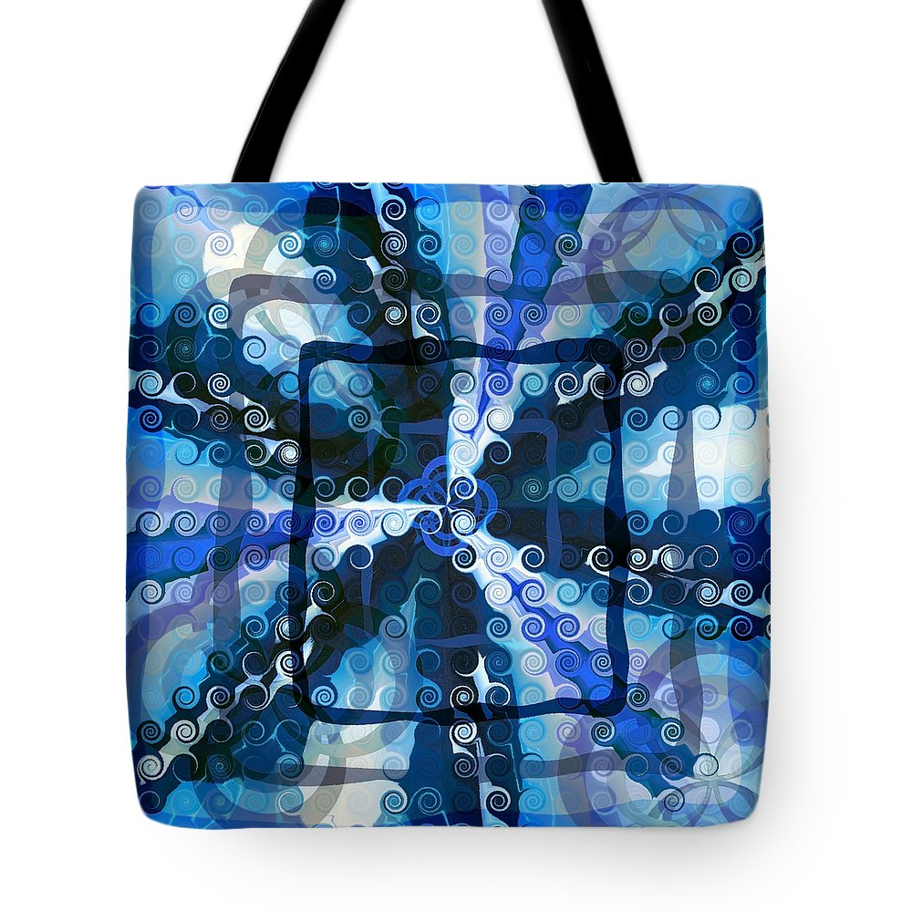 Evolve Tote Bag featuring the digital art Evolve 5 by Angelina Vick