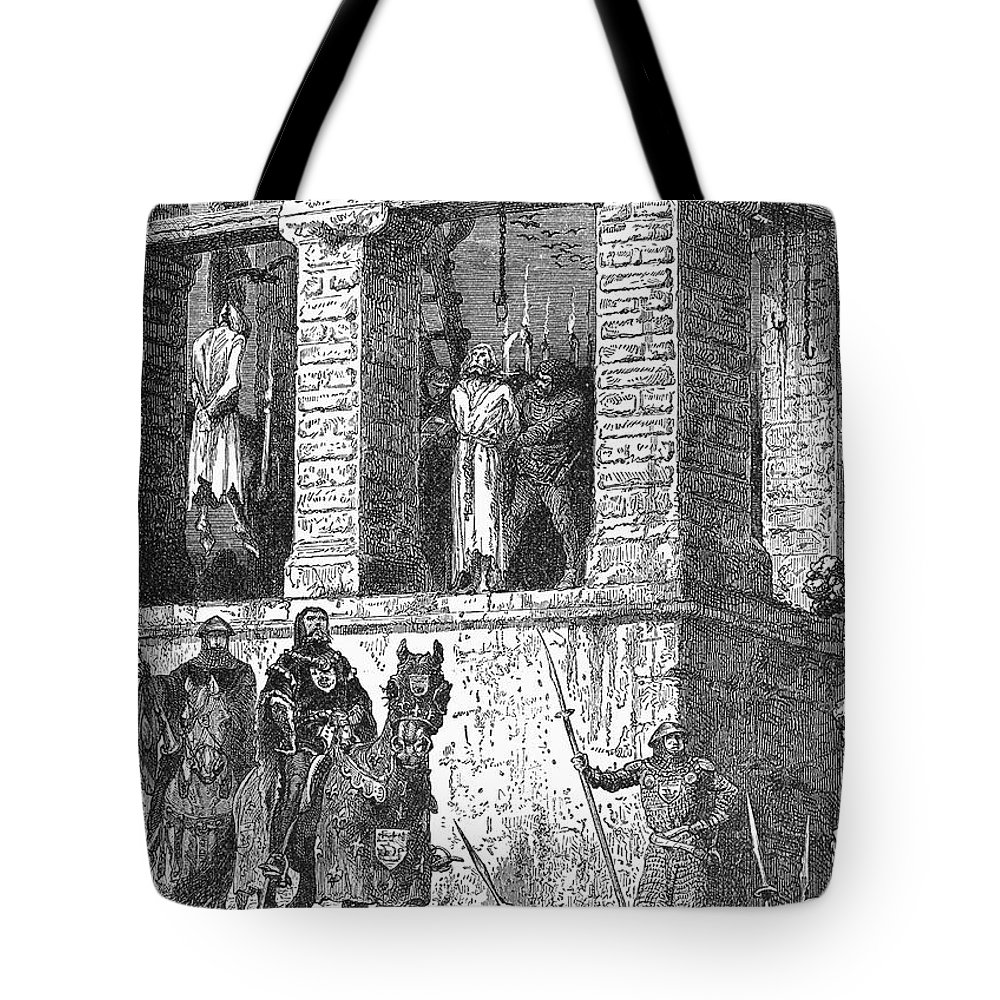 16th Century Tote Bag featuring the photograph Execution Of Heretics by Granger