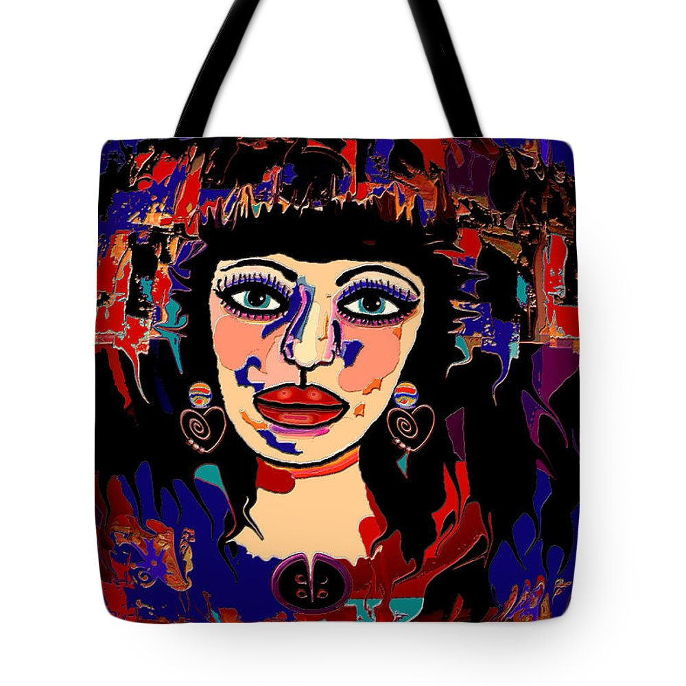 Woman Tote Bag featuring the mixed media Exotic Woman by Natalie Holland