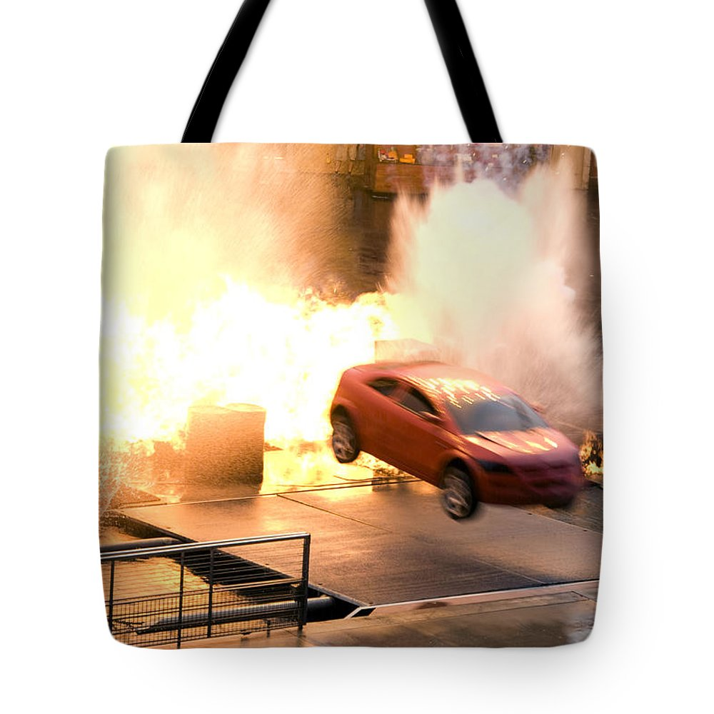 Fire Tote Bag featuring the photograph Explosion by Lisha Segur