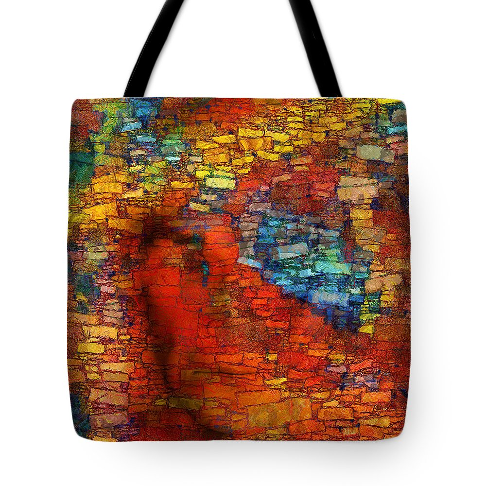 Figurative Abstract Digital Art Tote Bag featuring the digital art Extrusion by RochVanh