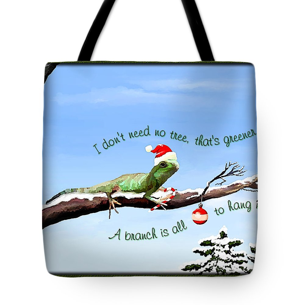 Christmas Card Tote Bag featuring the painting Ezekiels Christmas by Susan Kinney