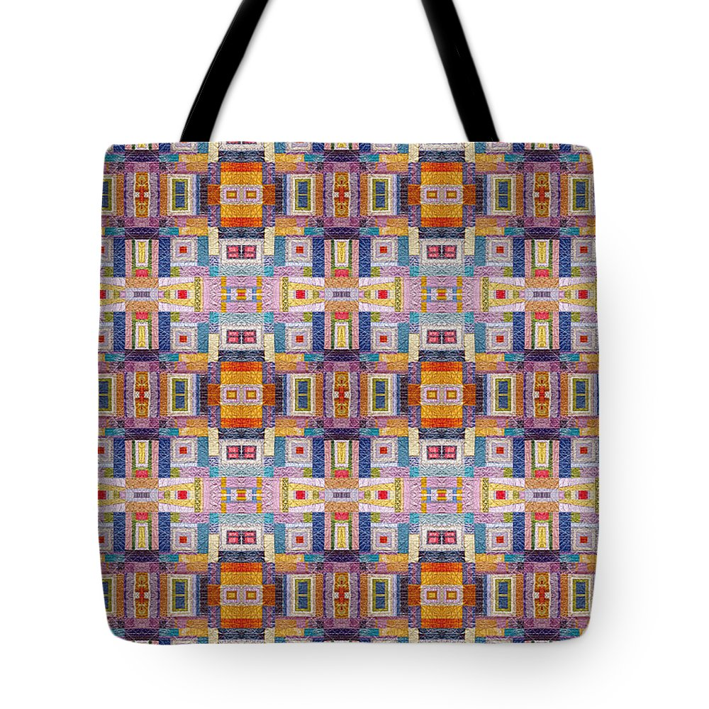Mosaic Tote Bag featuring the photograph Fabric Art by Munir Alawi