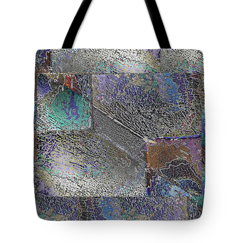 Abstract Tote Bag featuring the digital art Facade 10 by Tim Allen
