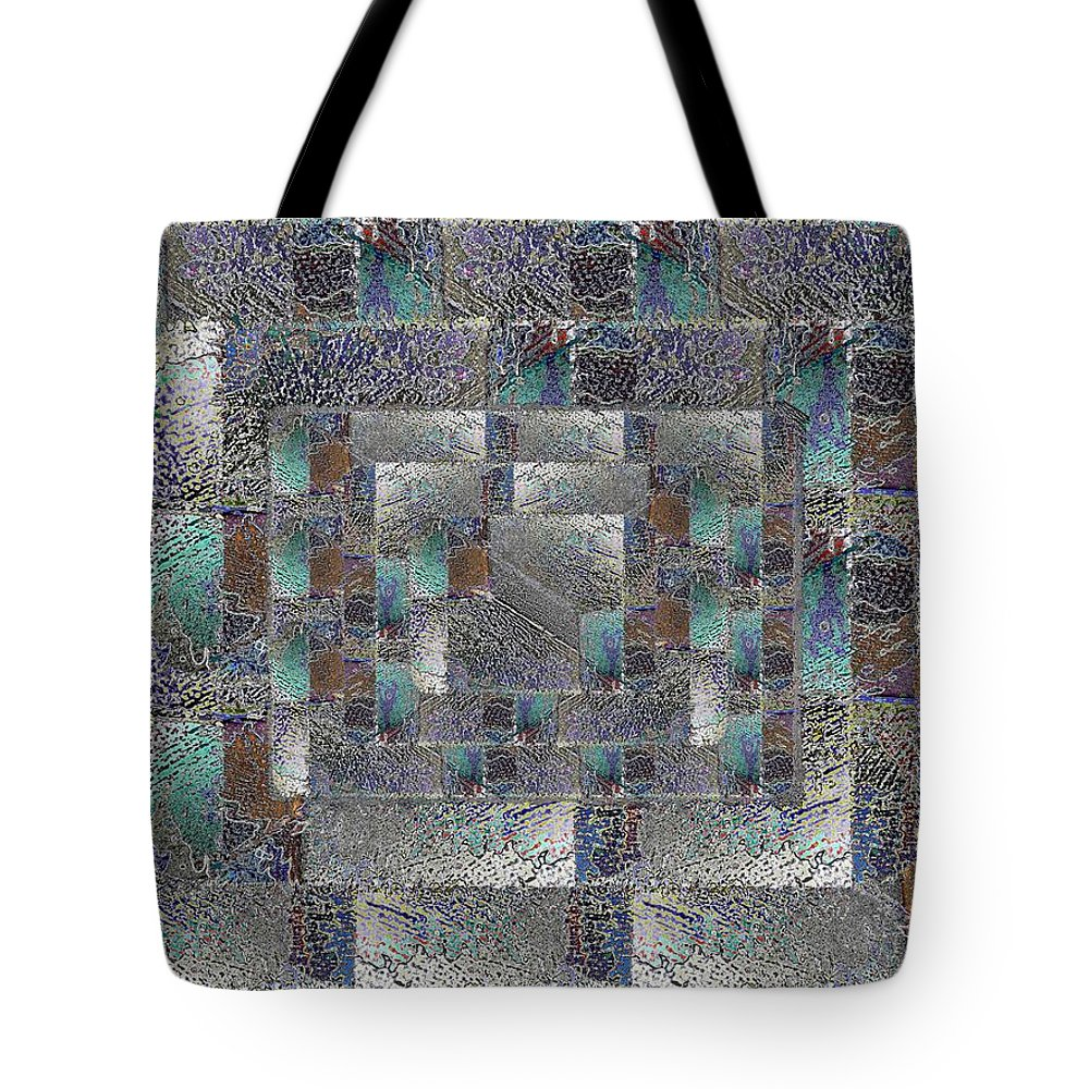 Abstract Tote Bag featuring the digital art Facade 12 by Tim Allen