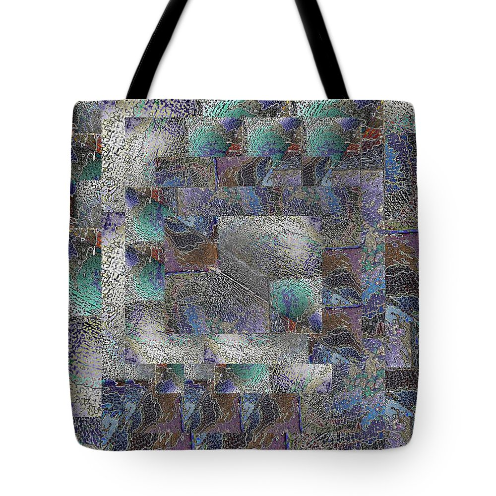 Abstract Tote Bag featuring the digital art Facade 14 by Tim Allen