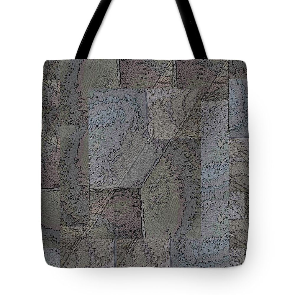 Abstract Tote Bag featuring the digital art Facade 3 by Tim Allen