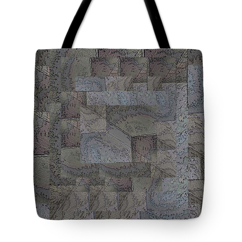 Abstract Tote Bag featuring the digital art Facade 4 by Tim Allen