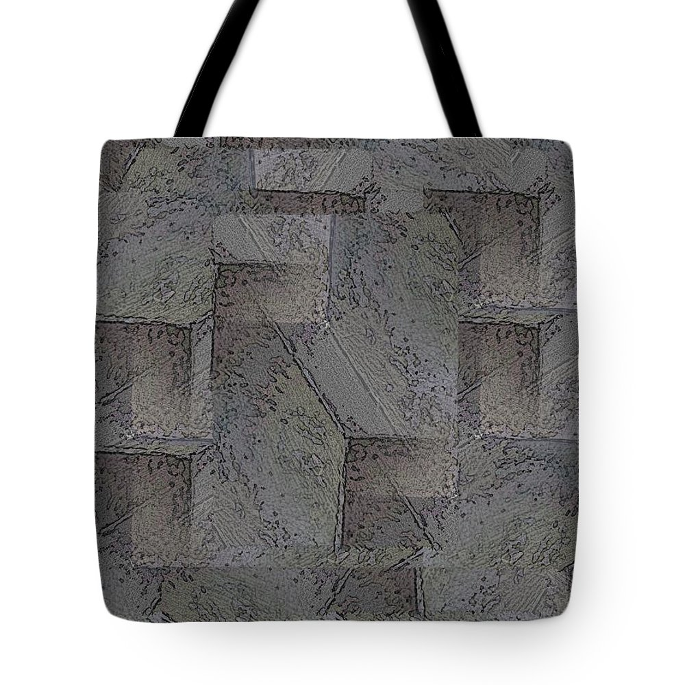Abstract Tote Bag featuring the digital art Facade 5 by Tim Allen