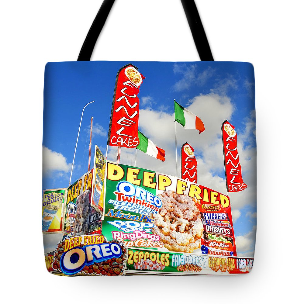 Fine Art Photography Tote Bag featuring the photograph Fair Food by David Lee Thompson