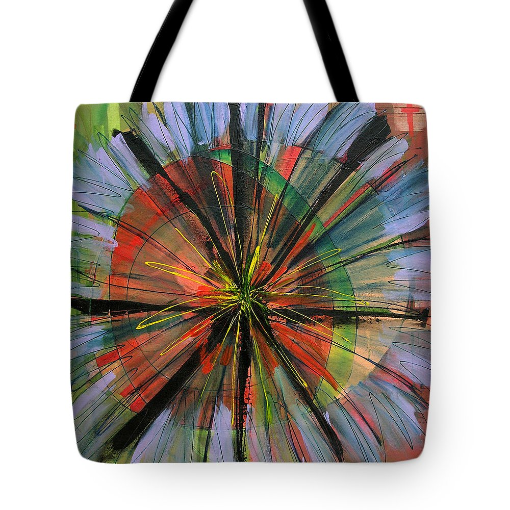 Abstract Tote Bag featuring the painting Faith by Lynne Taetzsch
