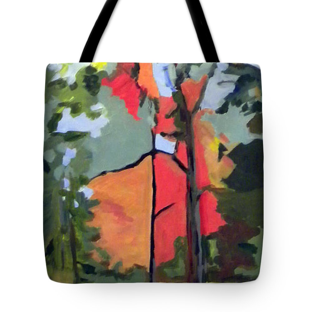 Fall Tote Bag featuring the painting Fall Edge by Daniel Gale