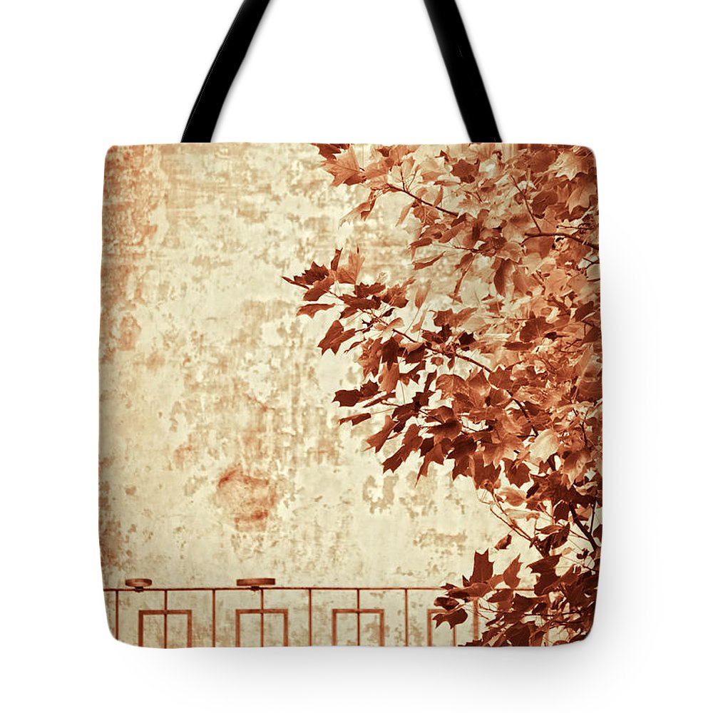 Sepia Tote Bag featuring the photograph Fall II by Silvia Ganora