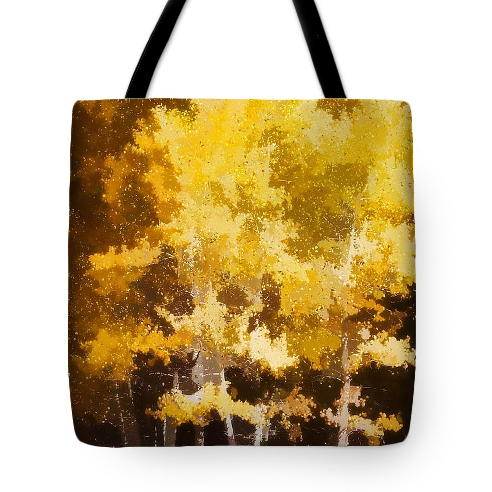 Aspen Tote Bag featuring the photograph Fall In The Sierra II by Carol Leigh