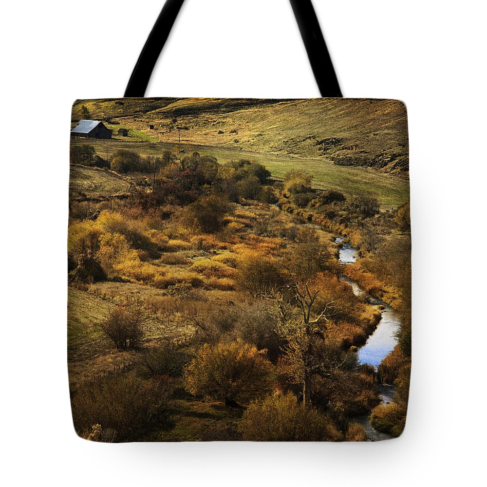 Fall In The Valley Tote Bag featuring the photograph Fall In The Valley by Wes and Dotty Weber