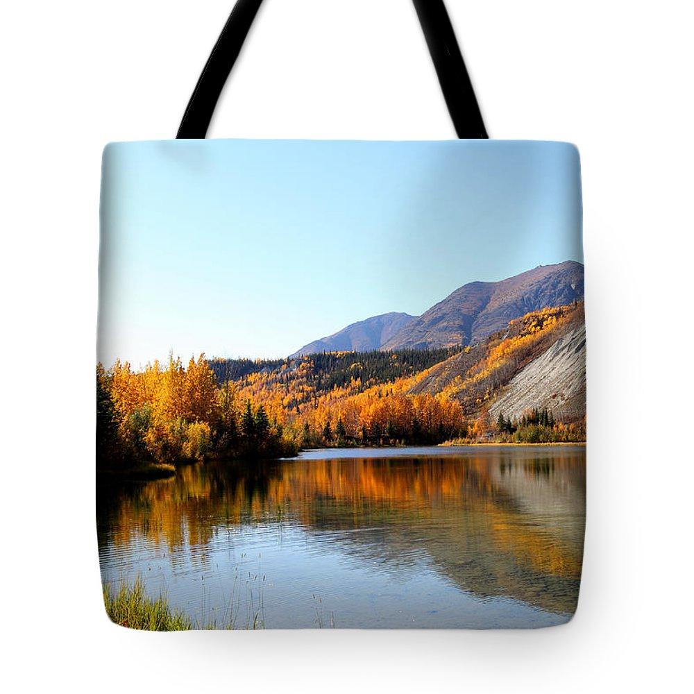 Doug Lloyd Tote Bag featuring the photograph Fall Pond by Doug Lloyd
