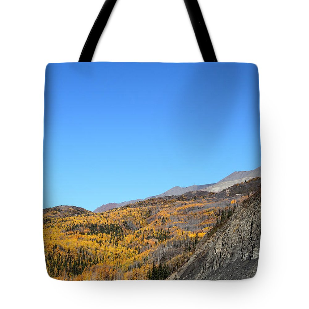Doug Lloyd Tote Bag featuring the photograph Fall Talkeetna Mountains by Doug Lloyd