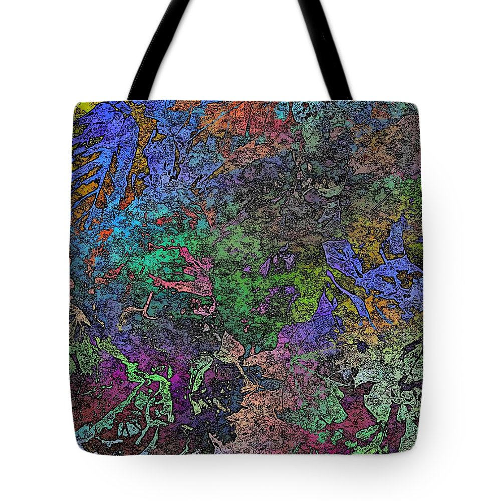 Abstract Tote Bag featuring the digital art Fallen For Fall by Tim Allen