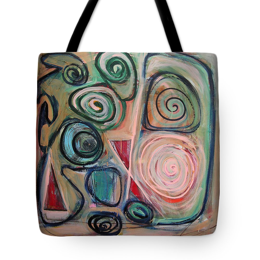 Abstract Tote Bag featuring the painting Falling Hours by Lynne Taetzsch
