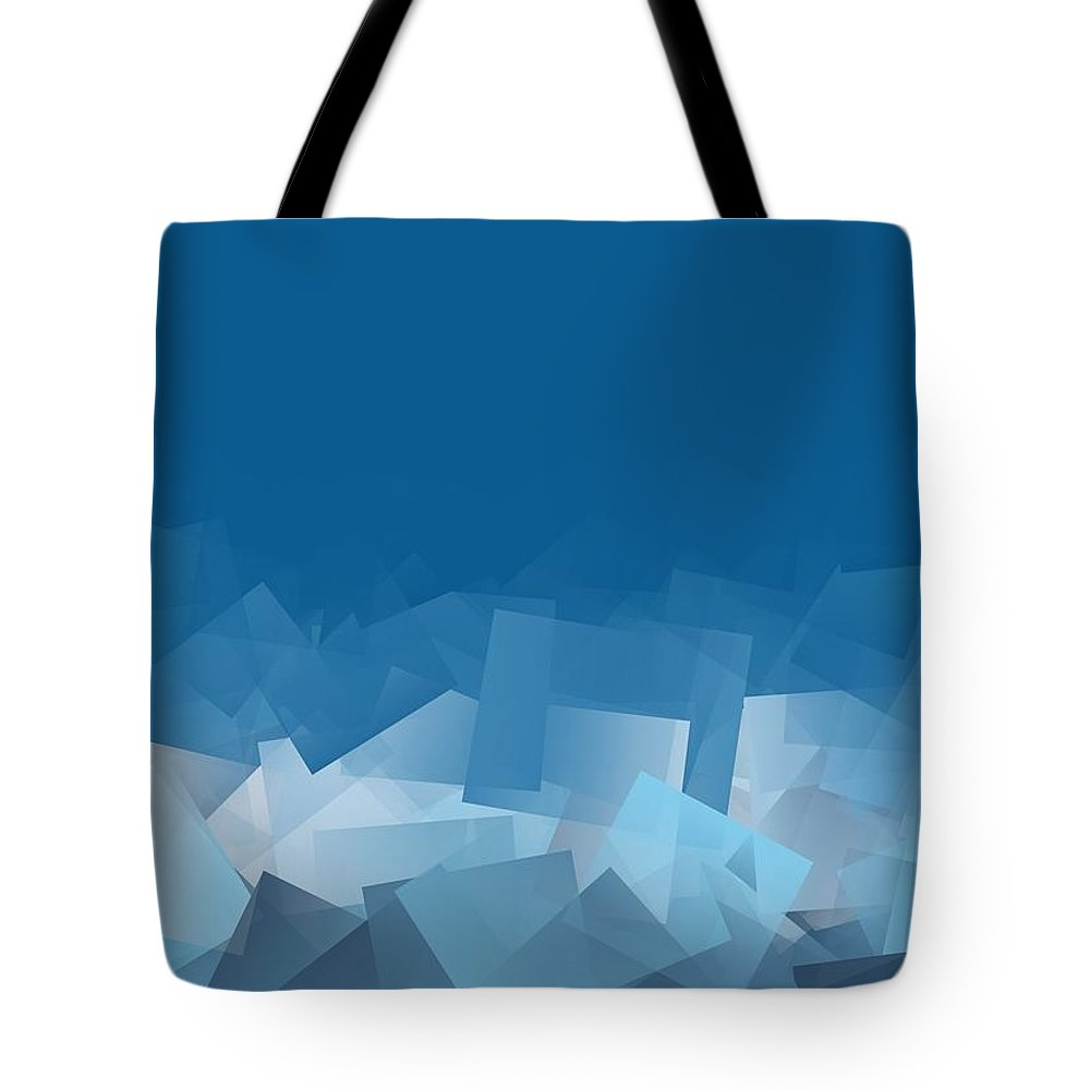 Colorful Tote Bag featuring the digital art Fallout by Jeff Iverson