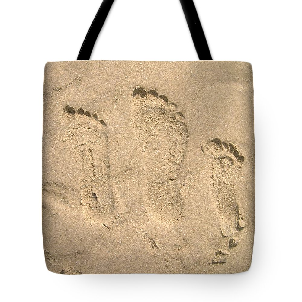 Family Of Three Footprints Tote Bag for Sale by Sven Migot