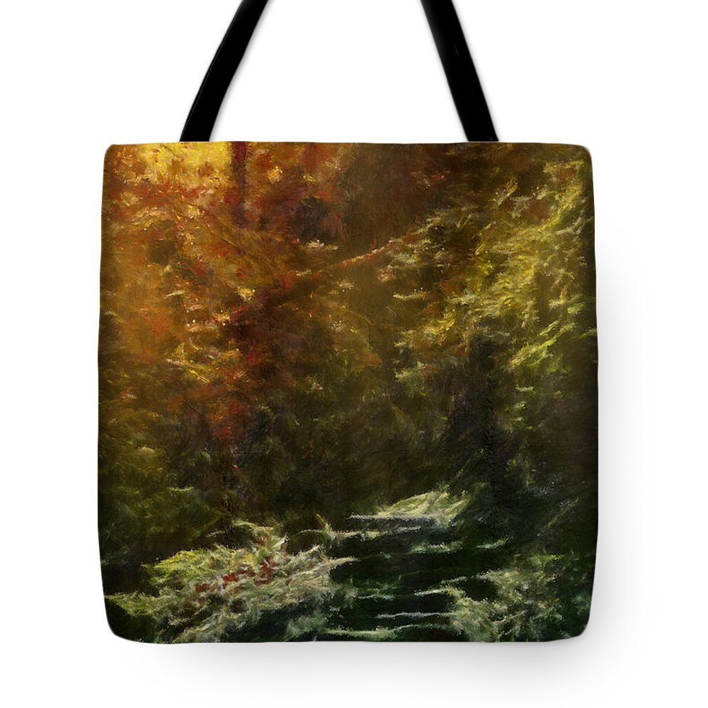 Texture Tote Bag featuring the digital art Fantasy Forest by Georgiana Romanovna