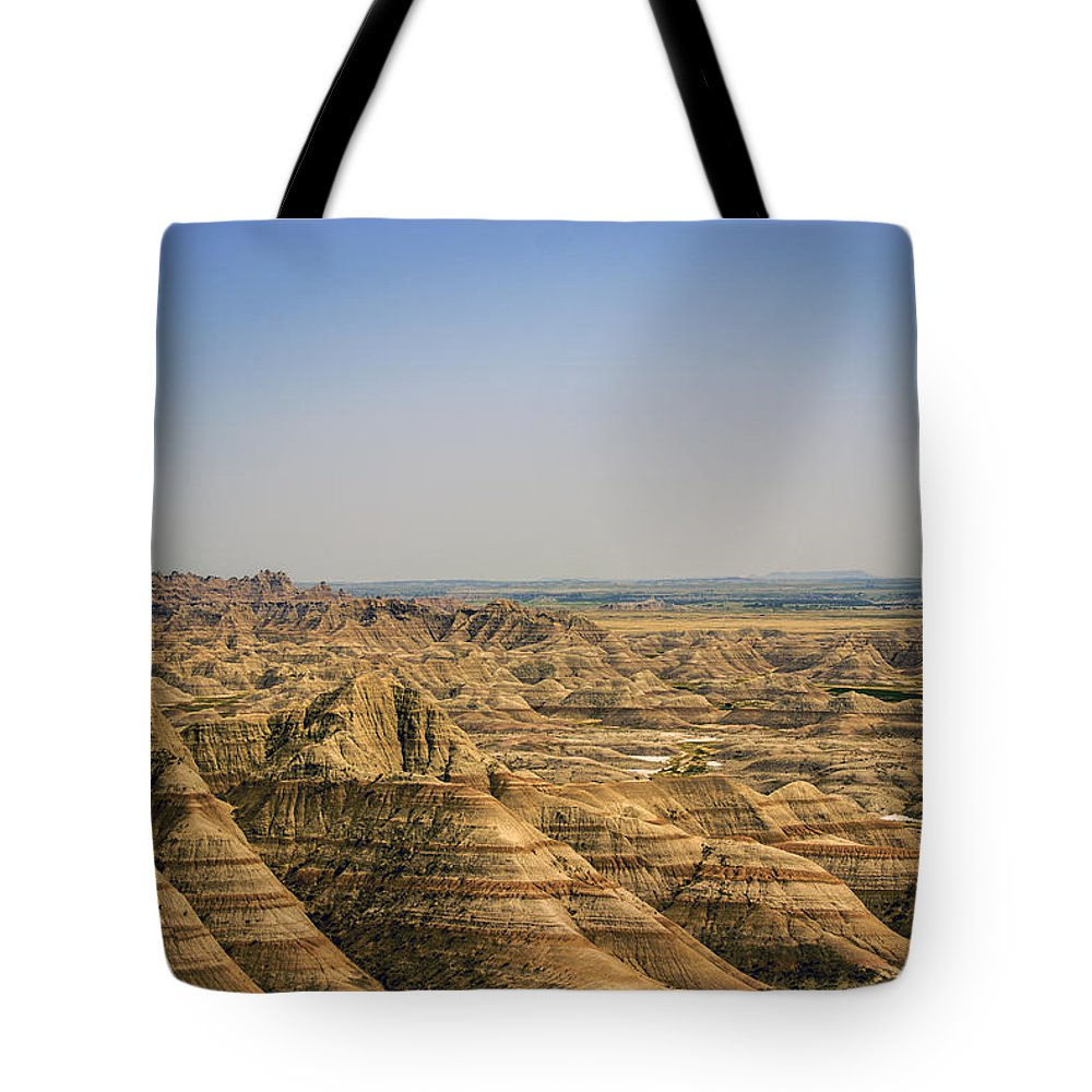Badlands Tote Bag featuring the photograph Far As The Eye Can See by Judy Hall-Folde