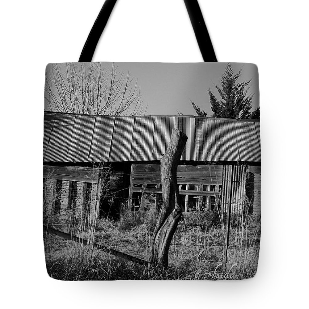 Farm Tote Bag featuring the photograph Farmers Building by Chris Berry