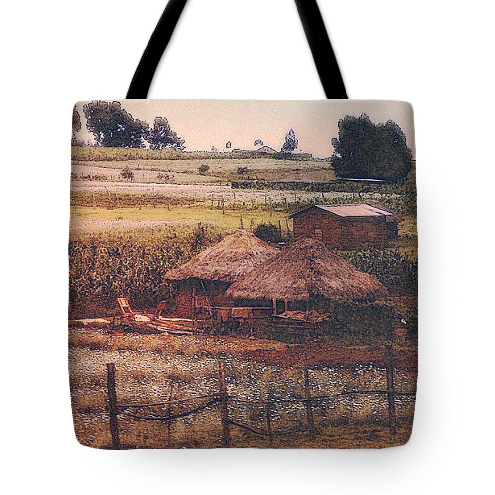 Farm Tote Bag featuring the photograph Farming In The Rift Valley by Lydia Holly