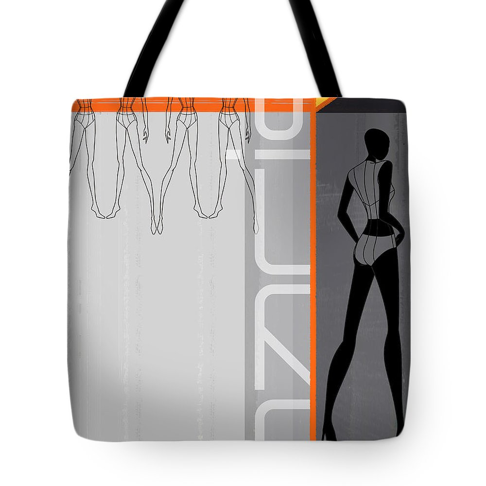 Fashion Tote Bag featuring the painting Fashion Dance by Naxart Studio