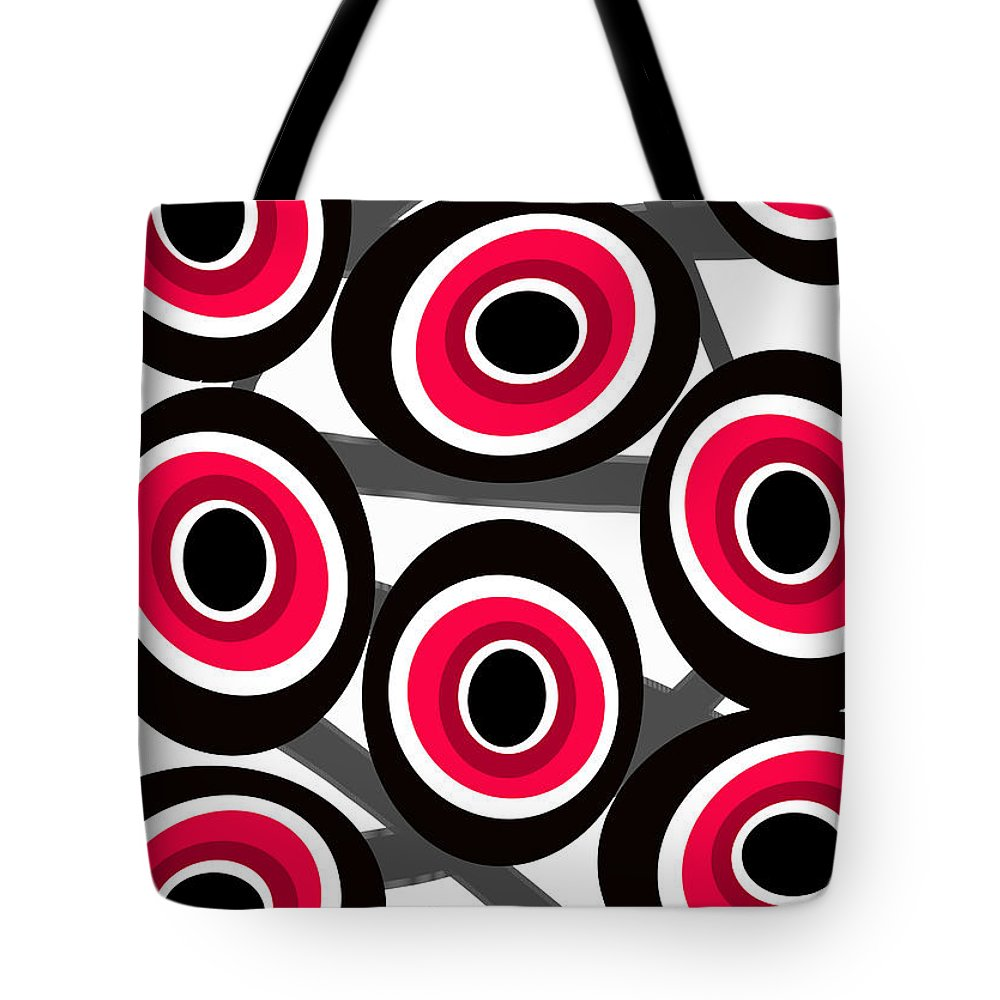 Fashion Spots Tote Bag featuring the painting Fashion Spots by Louisa Knight