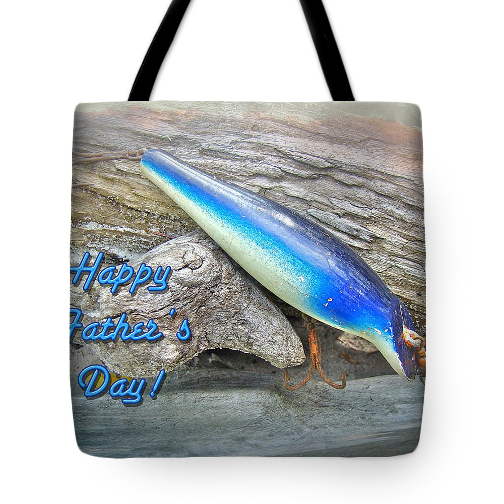 Fathers Day Tote Bag featuring the photograph Fathers Day Greeting Card - Vintage Floyd Roman Nike Fishing Lure by Mother Nature