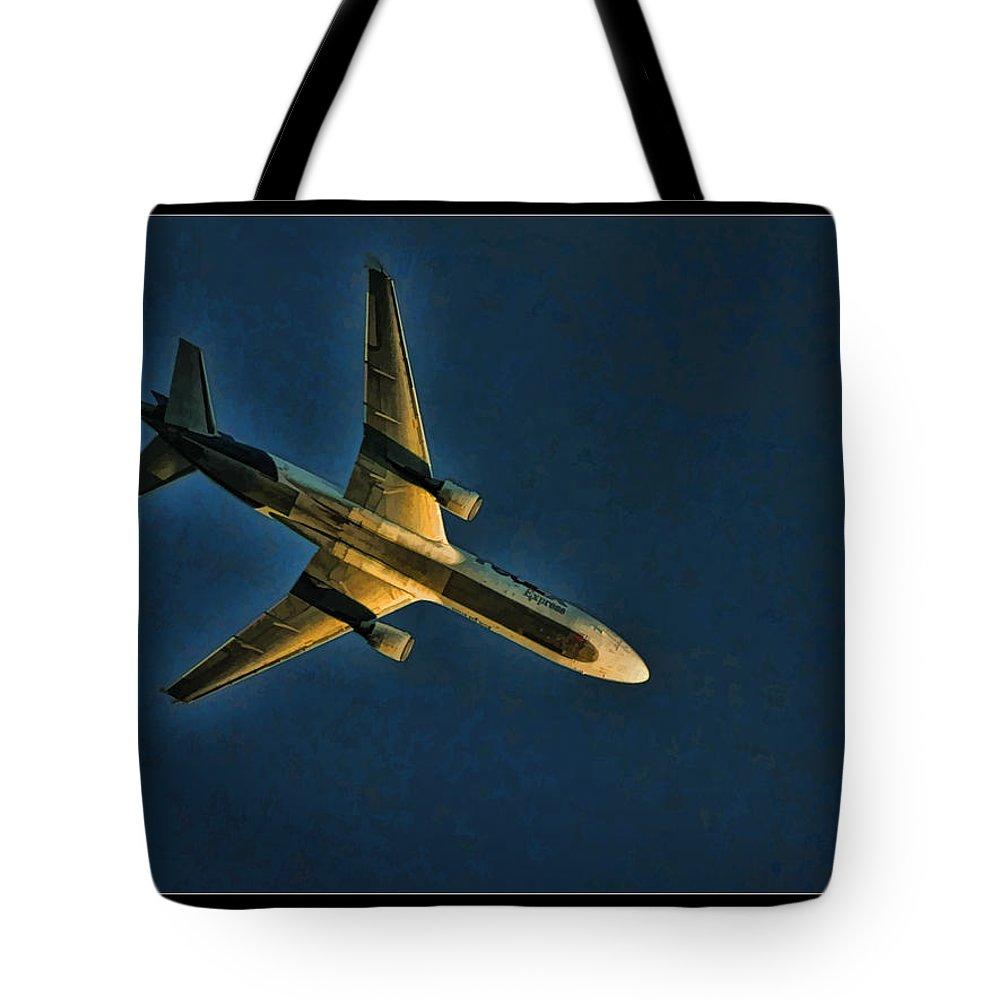 Fedex Plane Tote Bag featuring the photograph Fedex Plane by Blake Richards