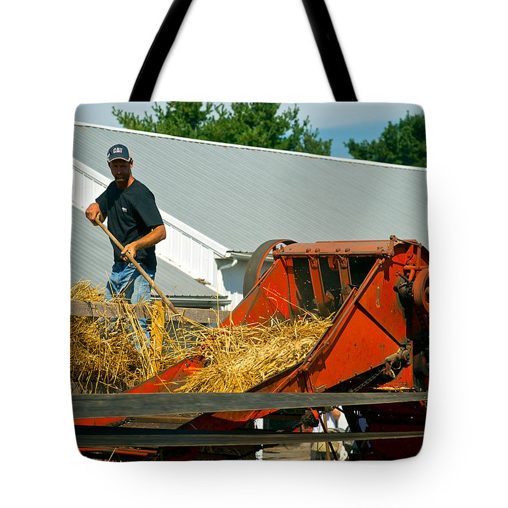 Arcadia Volunteer Fire Company Tote Bag featuring the photograph Feed The Machine by Mark Dodd