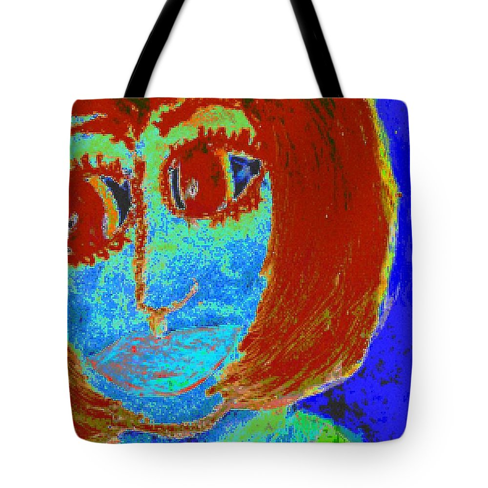 Blue Tote Bag featuring the painting Feeling Blue And Totally Frustrated by Angela L Walker