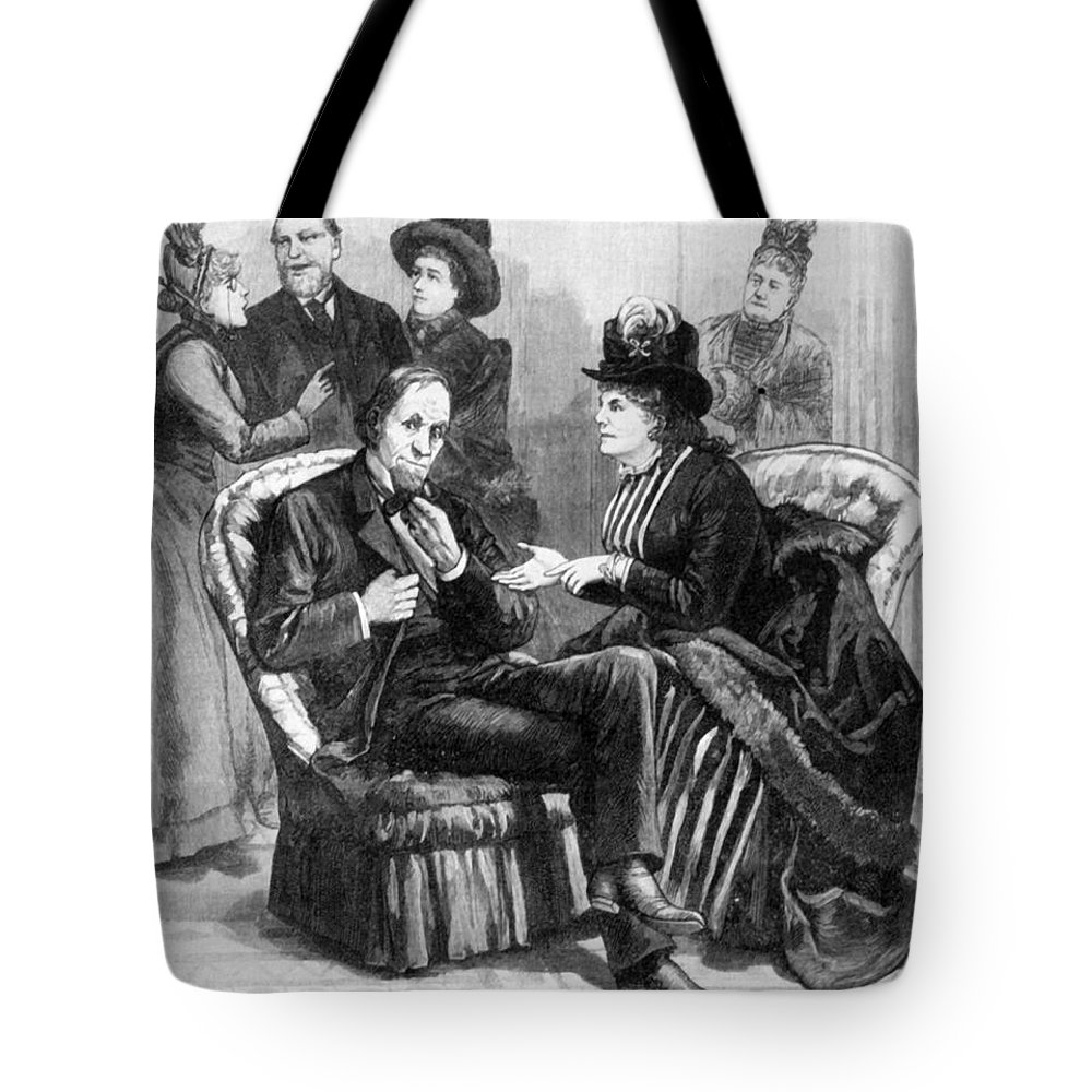 1888 Tote Bag featuring the photograph Female Lobbyists, 1888 by Granger