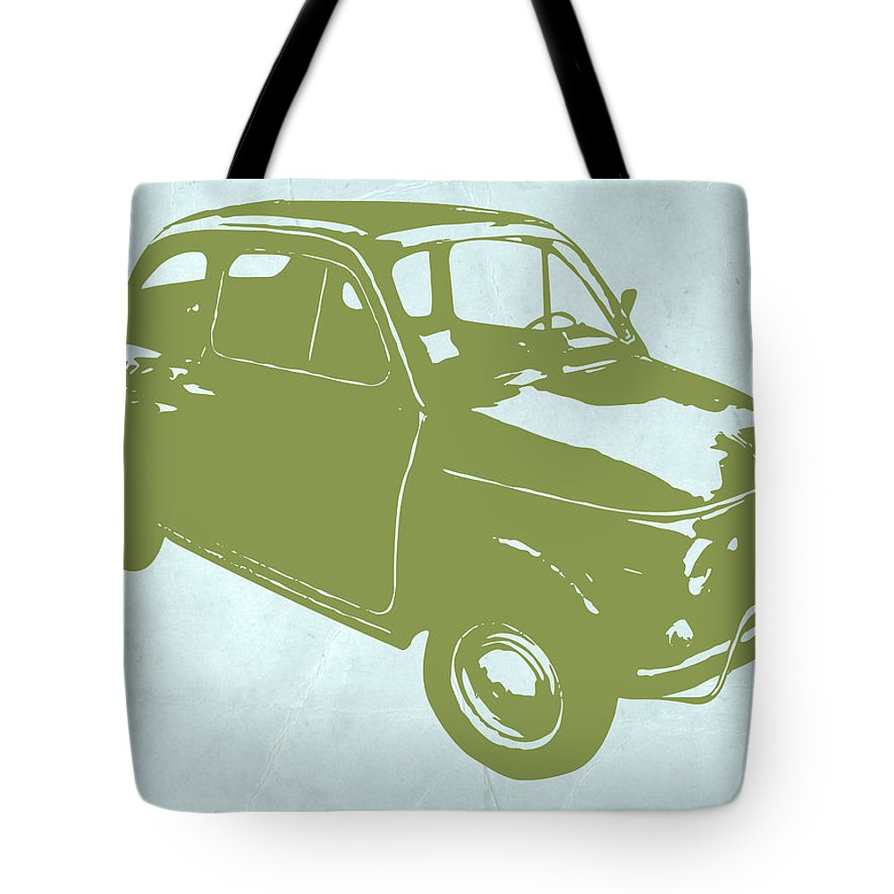 Fiat Digital Art Tote Bags