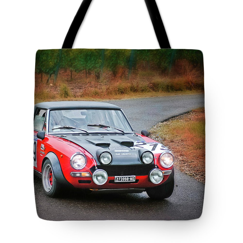 Car Tote Bag featuring the photograph Fiat Abarth by Alain De Maximy