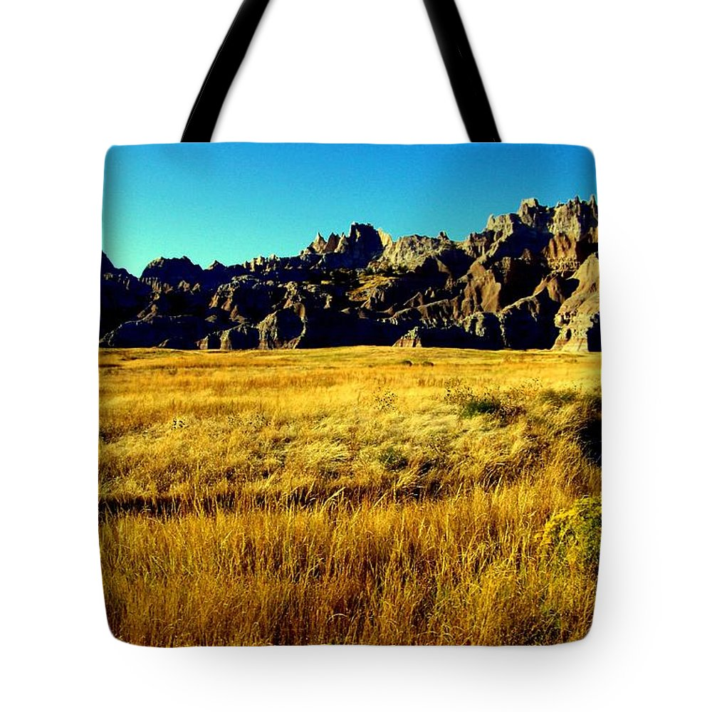 Landscapes Tote Bag featuring the photograph Fields Of Gold by Karen Wiles