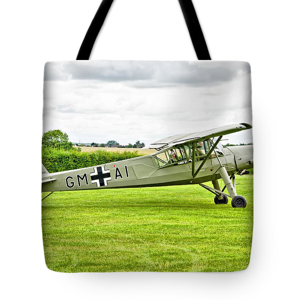 Fieseler Fi 156 Storch Tote Bag featuring the photograph Fieseler Fi 156 Storch by Chris Thaxter