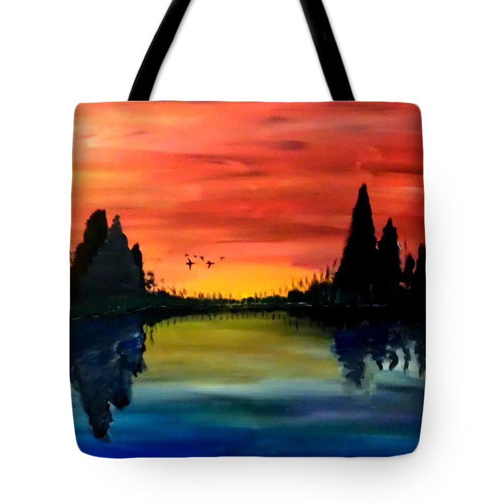 Mark Tote Bag featuring the painting Final Approach by Mark Moore