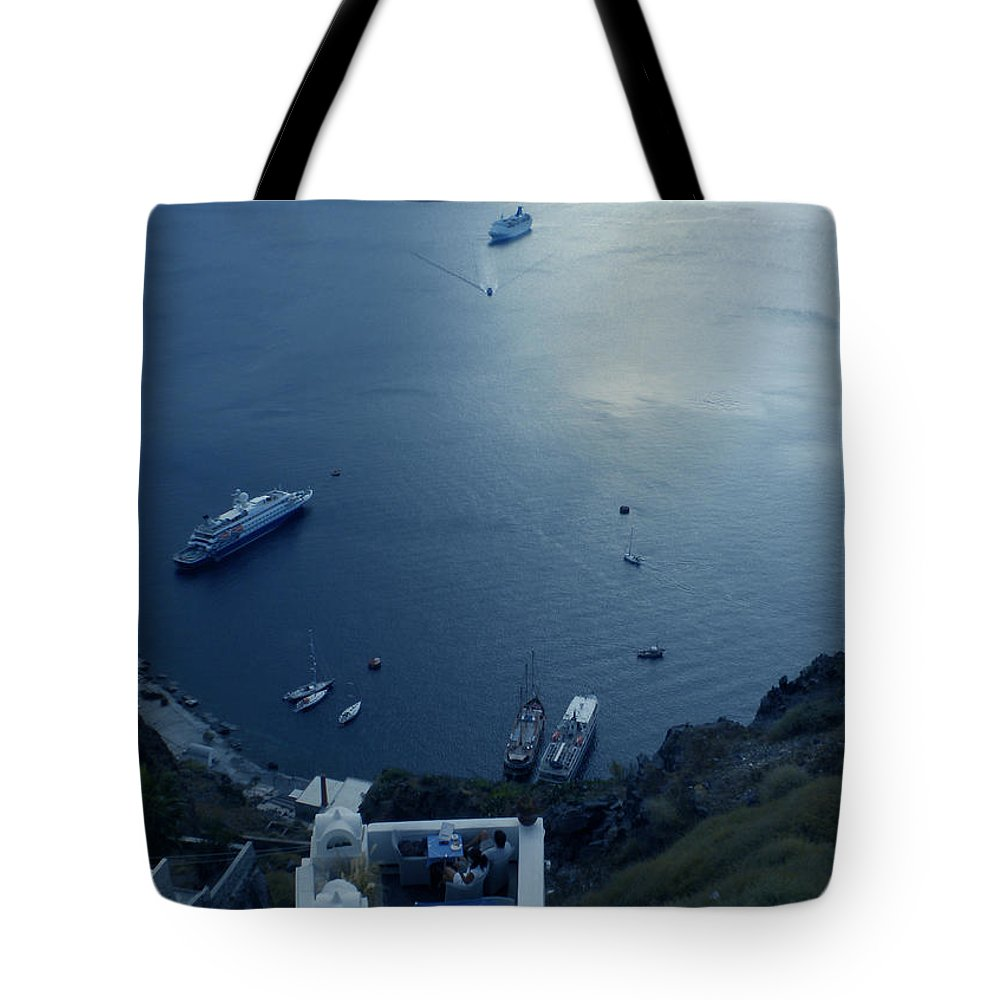 Colette Tote Bag featuring the photograph Fira Town View Santorini by Colette V Hera Guggenheim