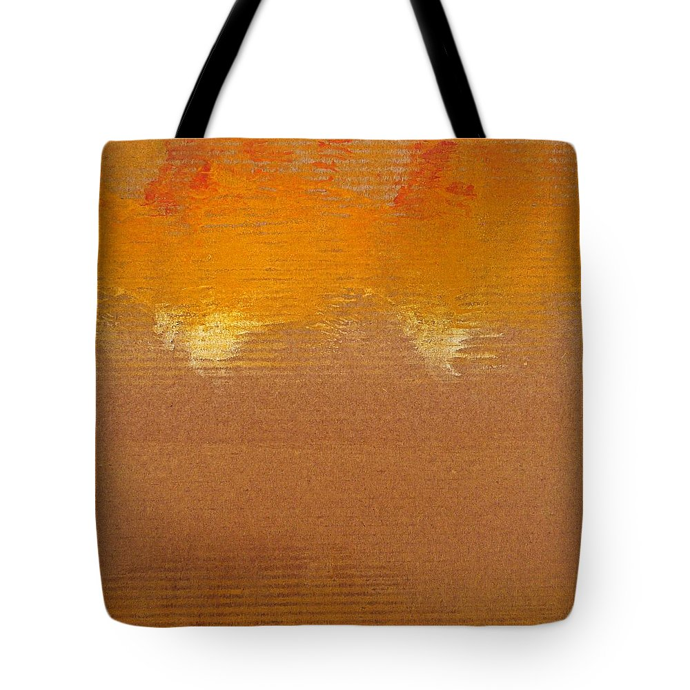 Red Tote Bag featuring the painting Fire Storm by Charles Stuart