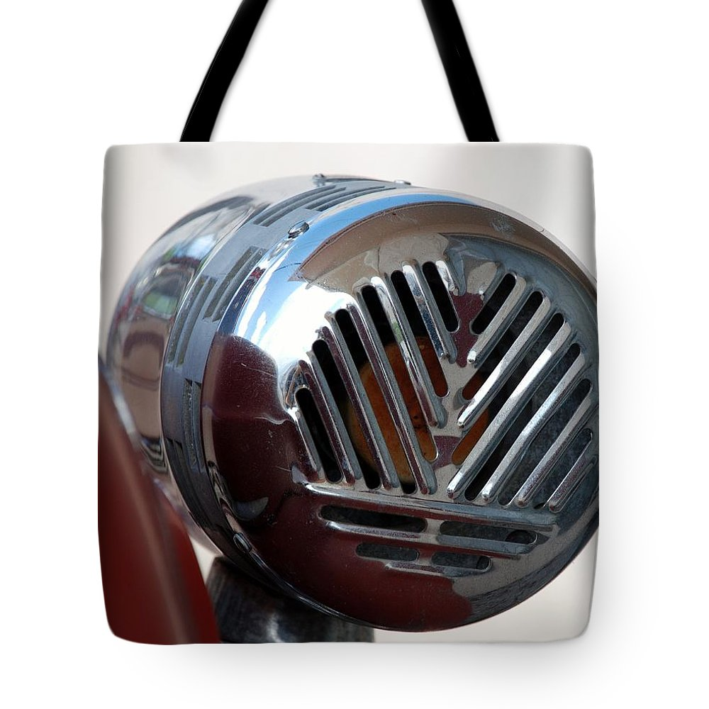 Siren Tote Bag featuring the photograph Fire Truck Siren by Rob Hans