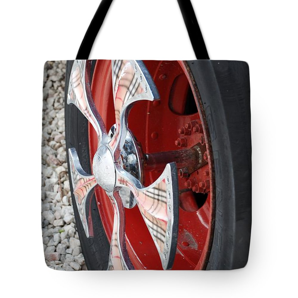 Tires Tote Bag featuring the photograph Fire Truck Spinner by Rob Hans